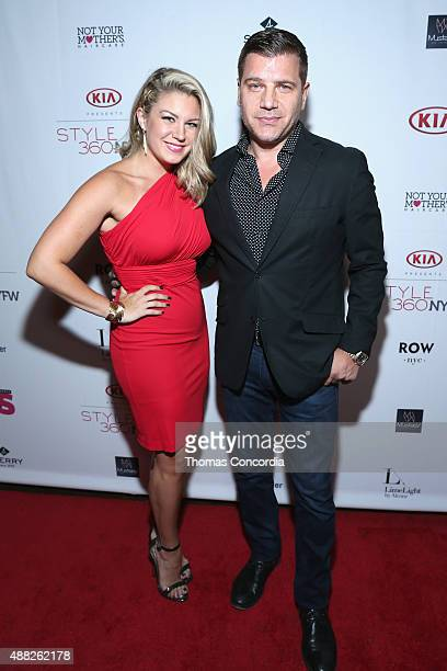 Mallory Hagan and Tom Murro attend with Us Weekly and Celebrates Fashion Week At KIA STYLE360 At Row NYC on September 14 2015 in New York City