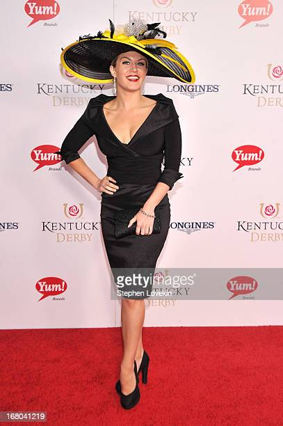 Mallory Hagan attends the 139th Kentucky Derby at Churchill Downs on May 4 2013 in Louisville Kentucky
