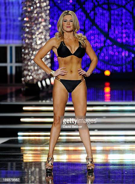 Mallory Hytes Hagan Miss New York competes in the swimsuit competition during the 2013 Miss America Pageant at PH Live at Planet Hollywood Resort...