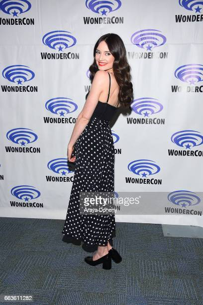 Mallory Jansen attends the 'Agents of SHIELD' press panel at day two of WonderCon 2017 the at Anaheim Convention Center on April 1 2017 in Anaheim...