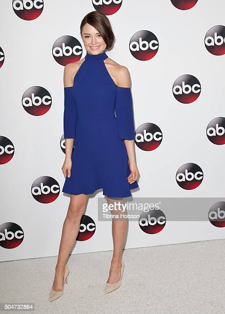 Mallory Jansen attends the Disney/ABC 2016 Winter TCA Tour at Langham Hotel on January 9 2016 in Pasadena California