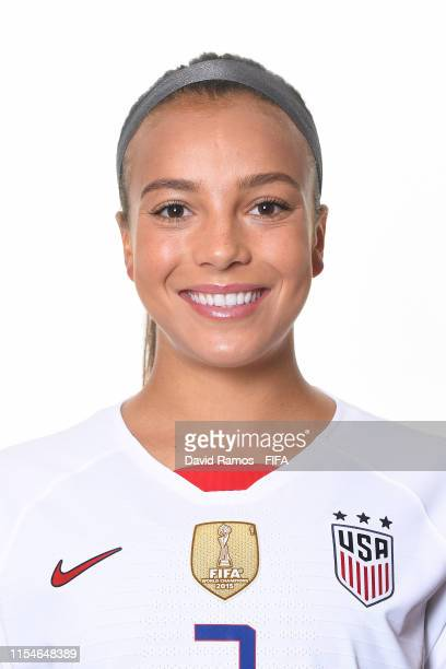 Mallory Pugh of the USA poses for a portrait during the official FIFA Women's World Cup 2019 portrait session at Best Western Premier Hotel de la...