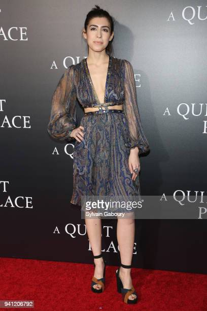 Mallory Sparks attends New York Premiere of 'A Quiet Place' on April 2 2018 in New York City
