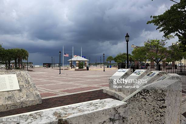 Mallory Square with Historical Military Memorial