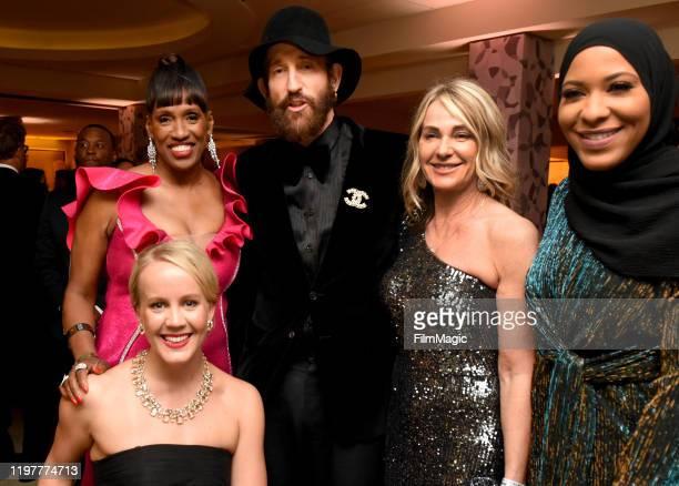 Mallory Weggemann Jackie JoynerKersee Johan Renck Nadia Comaneci and Ibtihaj Muhammad attend HBO's Official 2020 Golden Globe Awards After Party on...
