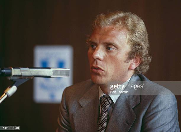 Malmö FF manager and former England player Bob Houghton speaks to journalists on the eve of the UEFA European Cup Final match between Malmö FF and...