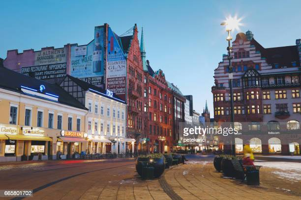malmo city urban landscape, sweden - malmo stock pictures, royalty-free photos & images