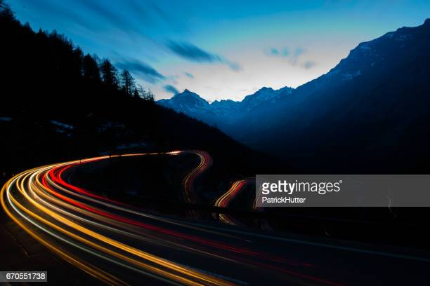 malojapass - straßenverkehr stock pictures, royalty-free photos & images