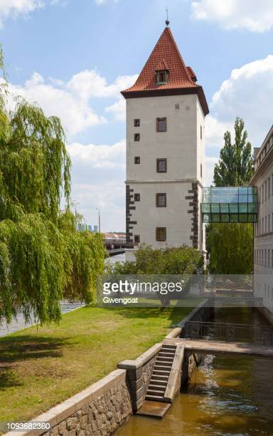 malostranská water tower in prague - gwengoat stock pictures, royalty-free photos & images
