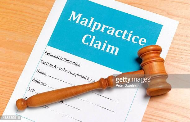 Malpractice medical claim form