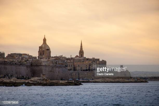 malta evening - antiquities stock pictures, royalty-free photos & images