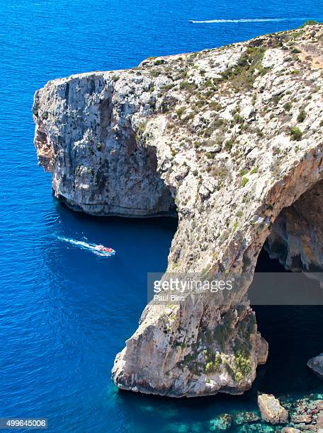 Malta, the Blue Grotto and the cliffs on the southern cost of the island