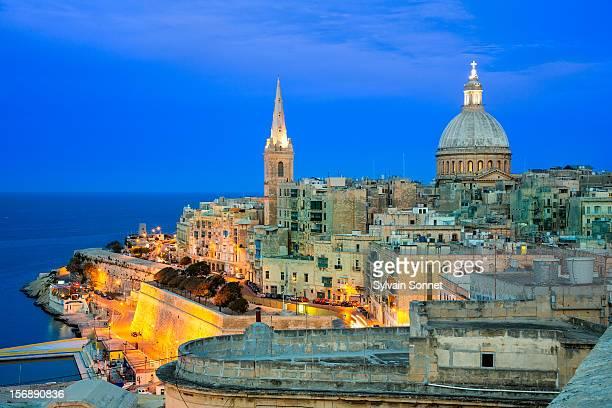 Malta, Valetta at Dusk