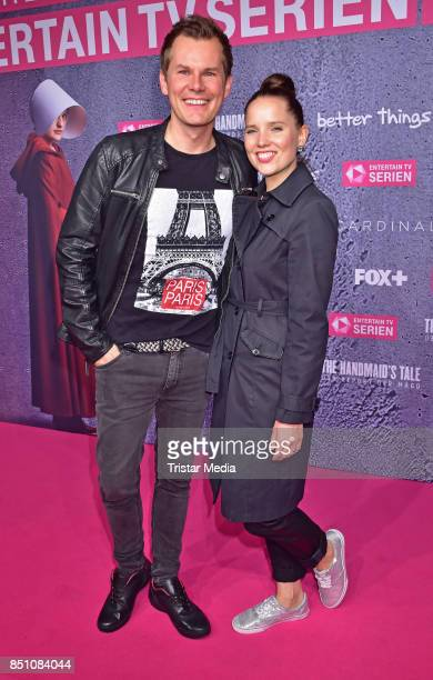 Malte Arkona and AnnaMaria Arkona attend the TV series start of 'The Handmaid's Tale Der Report der Magd' at Astor Film Lounge on September 21 2017...
