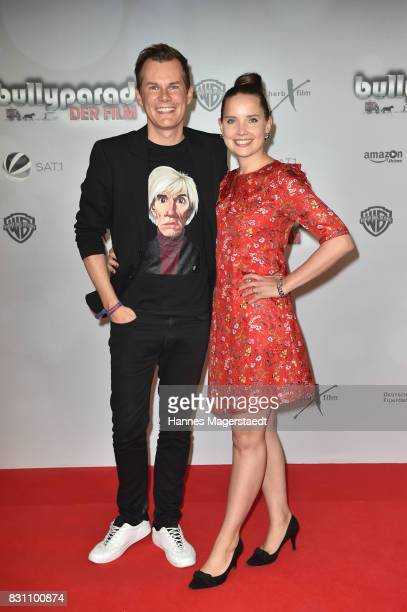 Malte Arkona and his wife Anna Arkona during 'Bullyparade Der Film' premiere at Mathaeser Filmpalast on August 13 2017 in Munich Germany