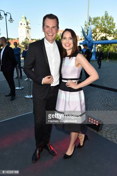 Malte Arkona and his wife AnnaMaria Arkona attend the Cadillac House Opening at Deutsches Museum on July 13 2017 in Munich Germany