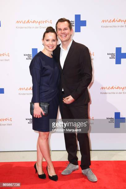 Malte Arkona and wife Anna Maria attend the 19th Media Award by Kindernothilfe on November 3 2017 in Berlin Germany