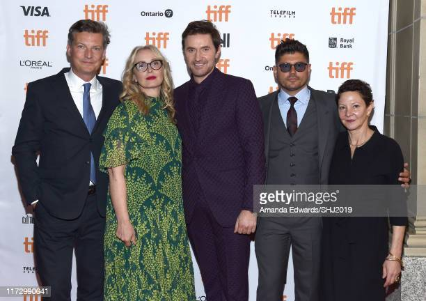 Malte Grunert Julie Delpy Richard Armitage Andrew Levitas and Malte Grunert attend the My Zoe premiere during the 2019 Toronto International Film...