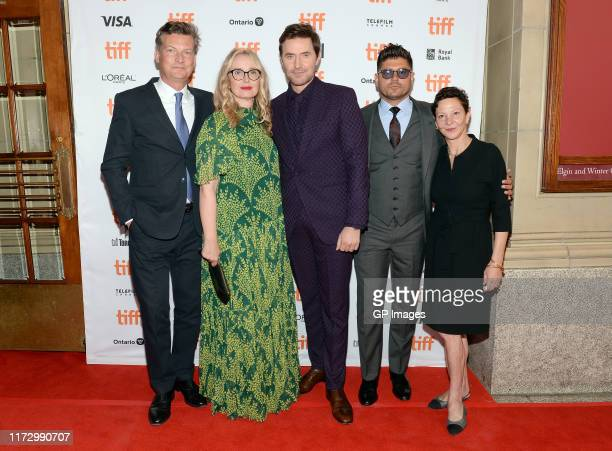 Malte Grunert Julie Delpy Richard Armitage Andrew Levitas and Gabrielle Tana attend the My Zoe premiere during the 2019 Toronto International Film...