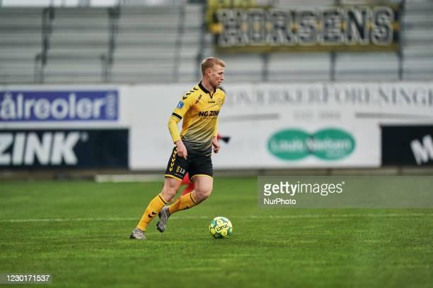 Malte Kiilerich of AC Horsens during the Superliga match between AC Horsens versus Aarhus GF at Casa Arena Horsens , Horsens, Denmark on December 13,...