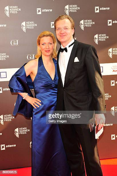 Malte von Trotha and his wife Constanze attends the Henri-Nannen-Award at the Schauspielhaus on May 8, 2009 in Hamburg, Germany.