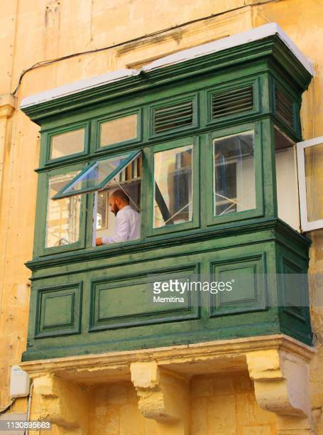 maltese man on a gallarija - civilian stock pictures, royalty-free photos & images