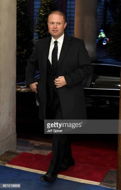 Maltese Prime Minister Joseph Muscat attends the 2018 Commonwealth Day reception at Marlborough House on March 12 2018 in London England