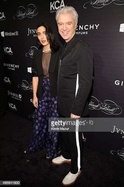 Malu Abeni Valentine Byrne and David Byrne attend Keep A Child Alive's 12th Annual Black Ball at Hammerstein Ballroom on November 5 2015 in New York...