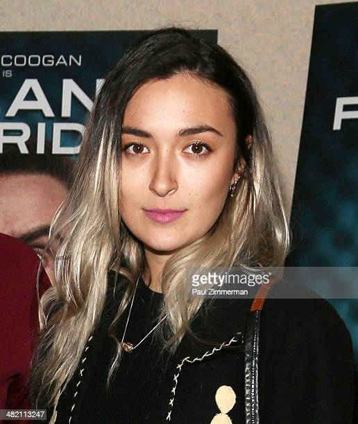 Malu Abeni Valentine Byrne attends the Alan Partridge New York screening at Landmark's Sunshine Cinema on April 2 2014 in New York City