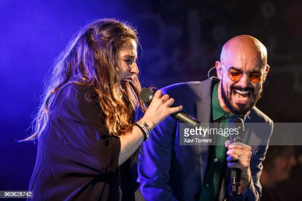 Malu and Abel Pintos perform in concert at Bikini on May 29 2018 in Barcelona Spain
