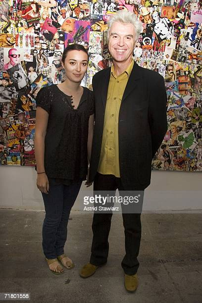 Malu and David Byrne attend the Mao Magazine Fashion Week launch party on September 6 2006 in New York City