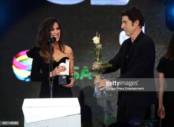 Malu and Manel Fuentes during the 'Cadena Dial' Awards gala 2018 on March 15 2018 in Tenerife Spain