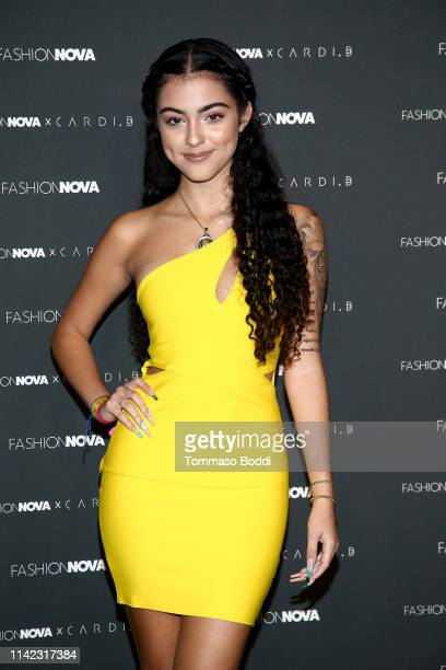 Malu arrives as Fashion Nova Presents Party With Cardi at Hollywood Palladium on May 8 2019 in Los Angeles California
