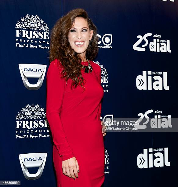 Malu attends 'Cadena Dial' 25th Anniversary photocall at Barclaycard on September 3 2015 in Madrid Spain