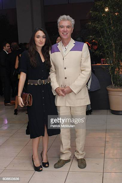 Malu Byrne and David Byrne attend Hammer Museum's Gala in the Garden Honoring Mike Kelley and Miuccia Prada at Hammer Museum on October 14 2007 in...