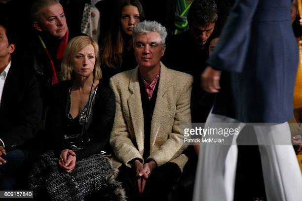 Malu Byrne and David Byrne attend MARC JACOBS Fall 2007 Collection at The Armory on February 5 2007 in New York City