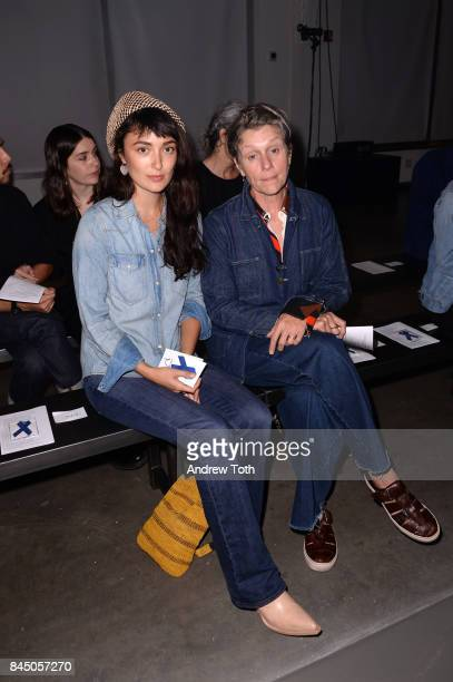 Malu Byrne and Frances McDormand attend A Detacher fashion show during New York Fashion Week on September 9 2017 in New York City