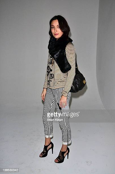 Malu Byrne attends the Gretchen Jones Fall 2012 presentation during MercedesBenz Fashion Week at Root Drive In on February 8 2012 in New York City