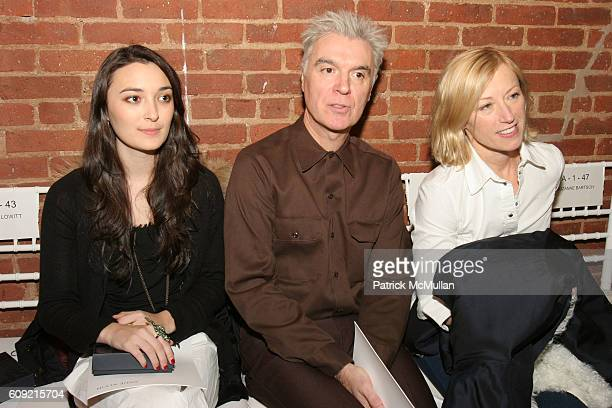 Malu Byrne David Byrne and Cindy Sherman attend Anne Klein Fall 2007 Collection at The Waterfront Building on February 9 2007 in New York City