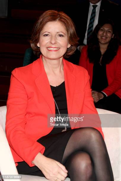 Malu Dreyer during the 'Markus Lanz' TV show on March 20 2019 in Hamburg Germany