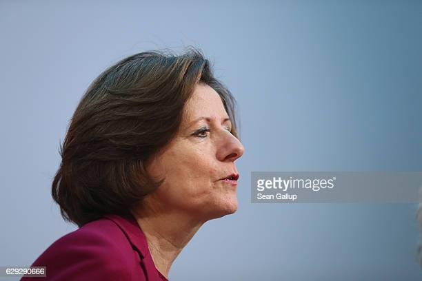 Malu Dreyer, Governor of Rhineland-Palatinate and a member of the German Social Democrats , arrives for a meeting of the SPD party board on December...