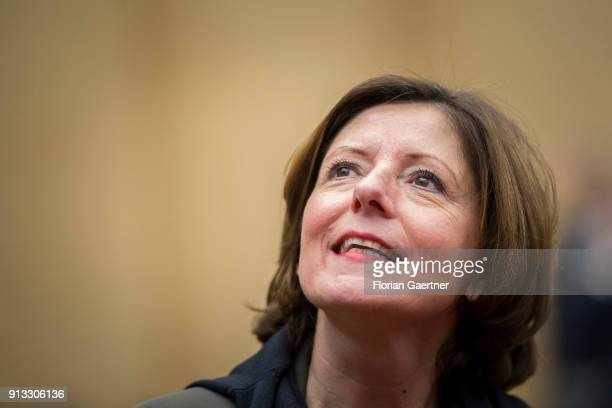 Malu Dreyer SPD prime minister of the German state of RhinelandPalatinate is pictured before the meeting of the Bundesrat on February 02 2018 in...