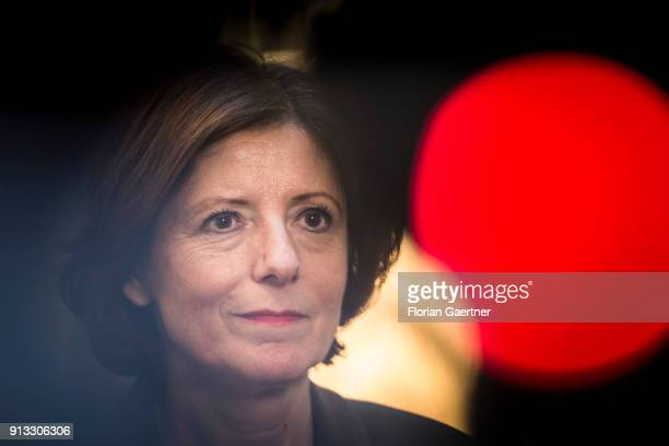 Malu Dreyer, SPD, prime minister of the German state of Rhineland-Palatinate, is pictured during an interview at the Bundesrat on February 02, 2018...