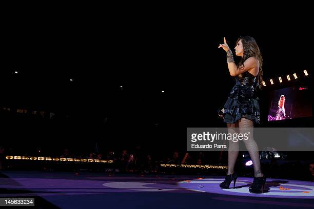 Malu performs during Cadena 100 Radio 20th anniversary concert at Vicente Calderon stadium on June 2 2012 in Madrid Spain