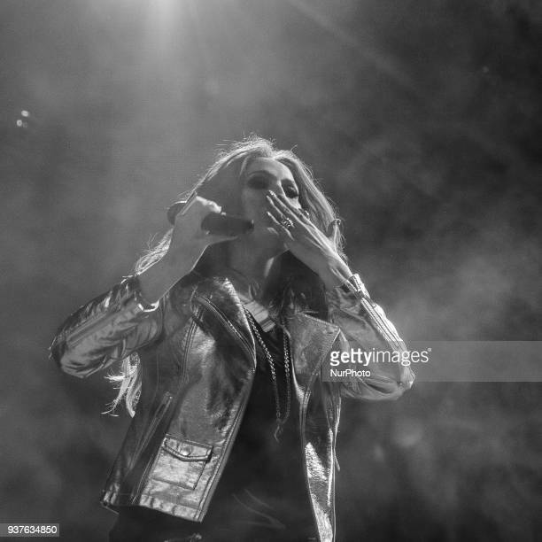 Malu performs during 'La Noche De Cadena 100' charity concert at WiZink Center on March 24 2018 in Madrid Spain