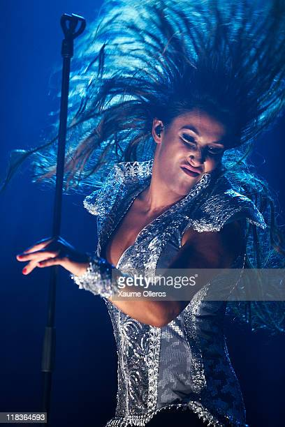 Malu performs in concert during the Feria de Julio Festival on July 6 2011 in Valencia Spain