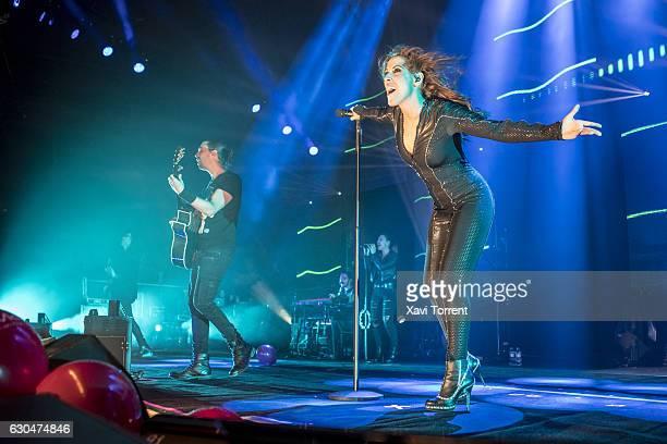 Malu performs on stage at Palau Sant Jordi on December 23 2016 in Barcelona Spain