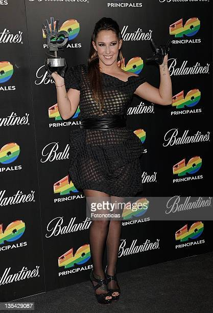 Malu poses at the press room during '40 Principales Awards' 2011 at the Palacio de Deportes on December 9 2011 in Madrid Spain