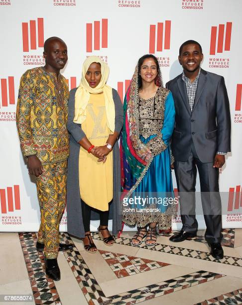 Malual Bol Kiir Halima Mohamud Mohamed Sonita Alizadeh and guest attend the 2017 Women's Refugee Commission Voices Of Courage Awards at Cipriani 42nd...