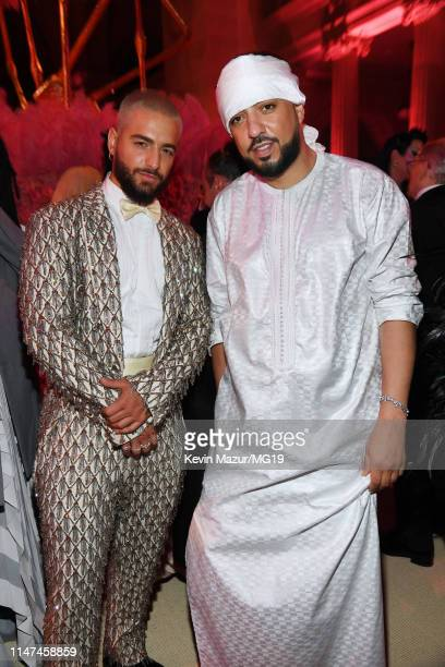 Maluma and French Montana attend The 2019 Met Gala Celebrating Camp Notes on Fashion at Metropolitan Museum of Art on May 06 2019 in New York City